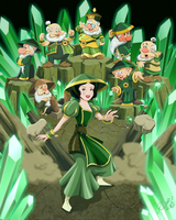 Snow White and the Seven Earth Benders by racookie3