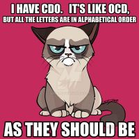 OCD Grumpy Cat by linai