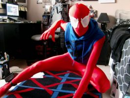 Scarlet-Spider costume (Almost there) by pwarner184