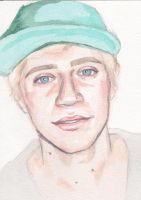 Niall Horan Watercolour by PoorMedea