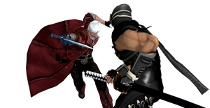 Dante vs Ryu XNALara by EnlightendShadow