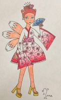 Kami Kitsune Monster Heritage outfit by Oceanblue-Art