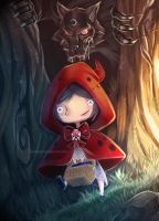 Little Red Riding Hood by Craneoos