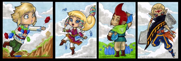 LoZ:SS - Skyward Minis by KeyshaKitty
