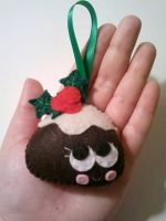 Penny the Plum Pudding Christmas Ornament by msmegas