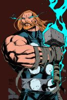 joe mad thor inks by benjonesart flats by FlattSquat