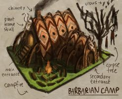 Barbarian Camp by e-mendoza