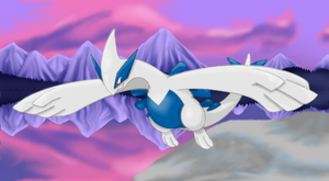Lugia Glaciers by Pikachu-And-Umbreon