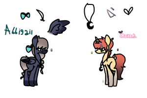 .:Reference sheet:. Stella and Abbigail by SparkleFox789