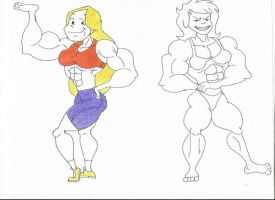 Muscle Women of Johnny Bravo by TheFranksterChannel