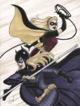 Batgirl and Robin by Protokitty