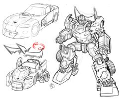 Transformers Hotrod Earth Mode by EJ-Su