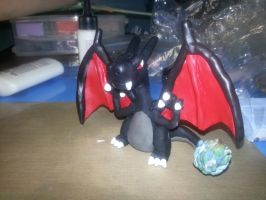Shiny Charizard for my brother by froggieg