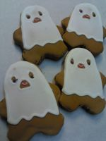 Ghost Costume Cookies by eckabeck