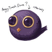 Angry Trash Dove by RiverKpocc