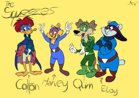 The Squeezes (from the Racctoon's) by MartonSzucsStudio