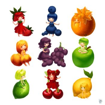 Original - Fruit Sticker Set by lin-k0