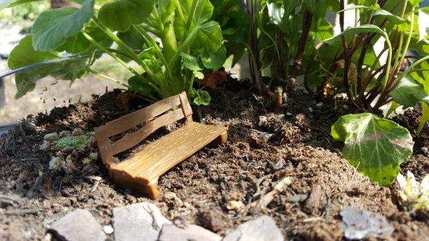 Miniature Park Bench by BlodynBach
