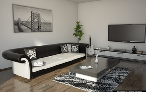 Living room black and white by slographic