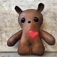 Leather Monster Bear Doll by ibenu