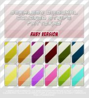 Axell: 12 Colored Diagonal Stripe Patterns by AxellPieces