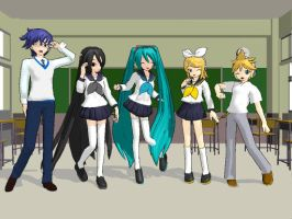 Vocaloid School Days by azngirlJD