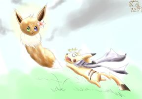 Lilly and Raiga playing XD by Lillytheeevee