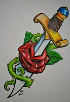 Rose and Dagger by knezak