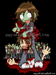 ZOMBIE ATTACK - Commission by amy-art
