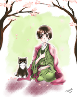 Japan and His Cat by skytabula