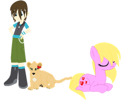 Roderick,Sophie and fluffy love by Cherryblossom135