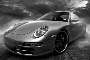 Porsche 911 dark B/W by Cyclodextrose