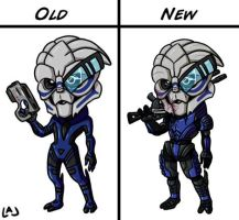 New Garrus Chibi Design by Red-Flare