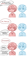 Rin and Haru in Australia Comic by TaffyVib