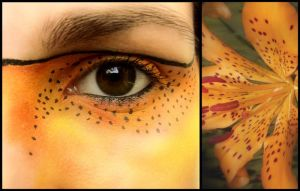 Tiger Lily Eye Make Up by littlehippy
