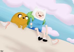 Lookout (Finn and Jake) by ByPanda