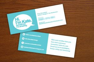 Quirky Business Card by KateBloomfield