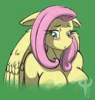 Fluttershy bust by EthanQix