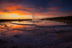 Geyser on Fire by porbital