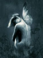 Angel with butterfly by califema