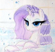 Rarity's Bath by PrettyPinkP0ny