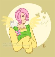 MLP: Fluttershy Thank you by Mikochi