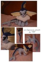 v3 Vaporeon plush by teenagerobotfan777