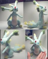 Felted Plush Carbuncle by wickedorin
