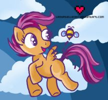Scootaloo reminds me of a Bumblebee by ladypixelheart