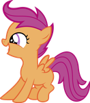 Excited Scootaloo by Vectors-R-US