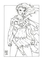 RAVAGER SUPERGIRL INKED by WILLEYWORKS