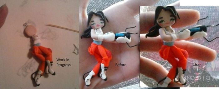 Handmade Chell Progress by thepunkpalace