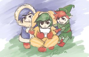 Triforce Heroes by MegWhiteIII