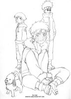 Kiba and team 8 by Pia-sama